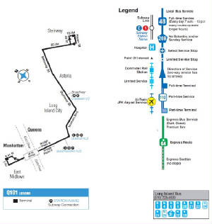 Q Bus Map on