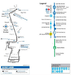Q59 Bus - Grand Street / Grand Avenue Q Bus Map on