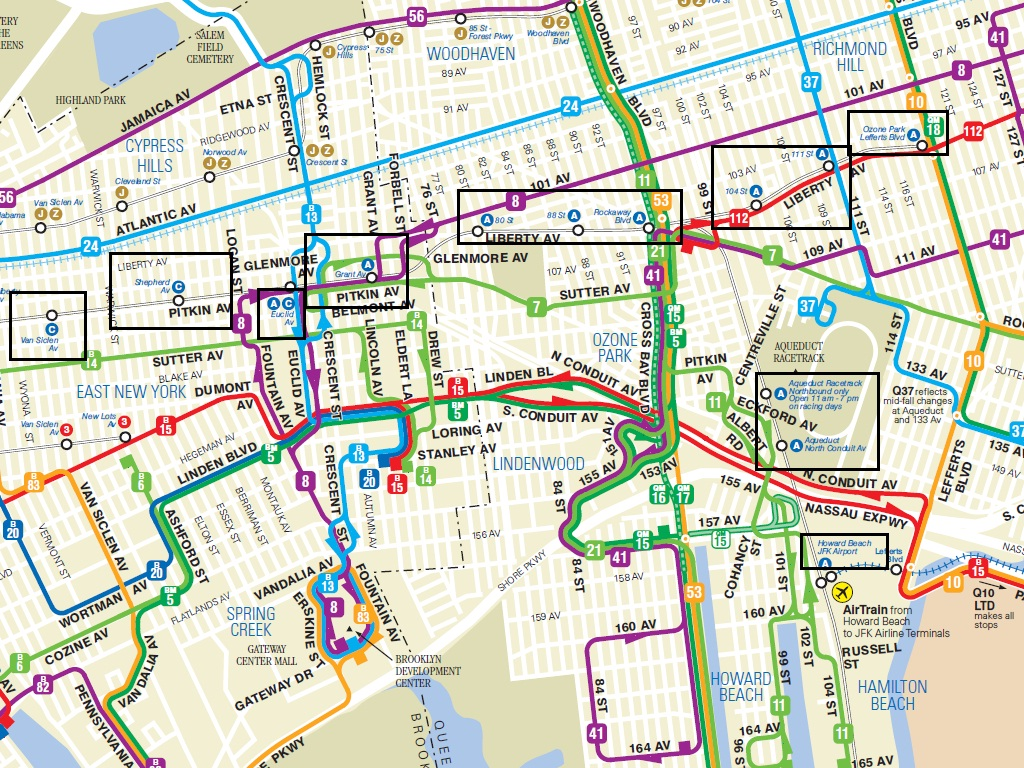 Mta Queens Bus Map Valencia East Campus Map Map South - Queens bus map